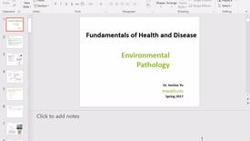Thumbnail for entry FW FHD 2017 Feb 13 Environmental Pathology Part 1