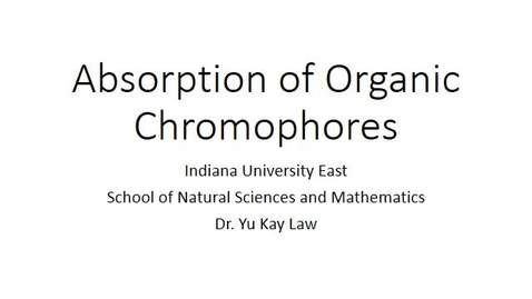 Thumbnail for entry Absorption of Organic Chromophores