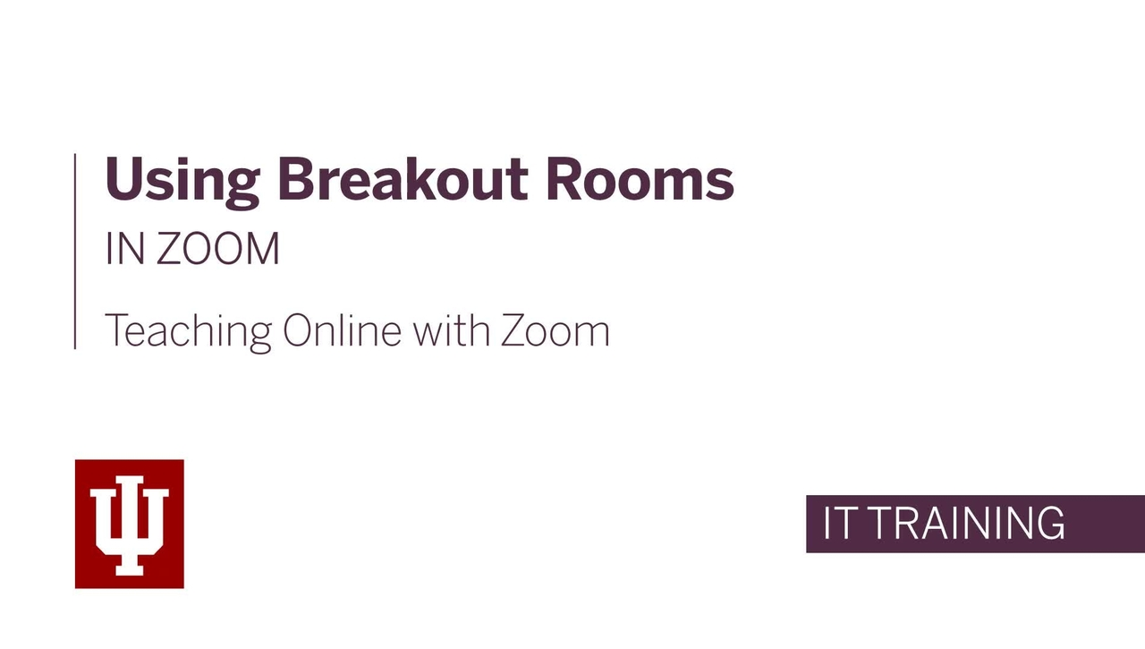 Teaching Online with Zoom: Using Breakout Rooms in Zoom