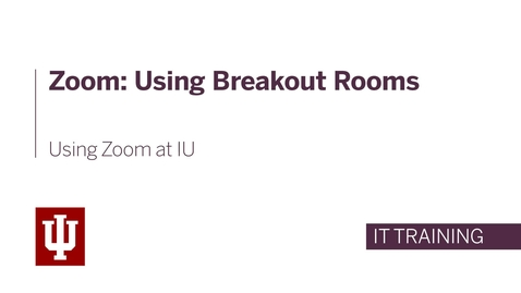 Thumbnail for entry Zoom: Using Breakout Rooms