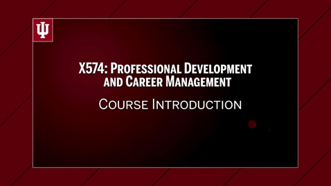 Thumbnail for entry X574-Course Introduction with Megan Alwine