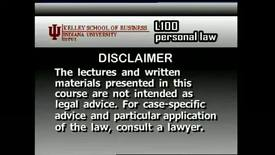 Thumbnail for entry L100_Lecture 16_Segment 1: Class Actions & Small Claims