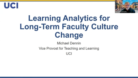 Thumbnail for entry Learning Analytics for Long-term Faculty Culture Change