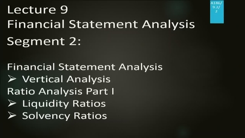 Thumbnail for entry A186 09-2 Financial Statement Analysis