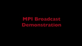 Thumbnail for entry L9 MPI Broadcast Demo