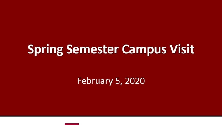2020 Spring Semester Financial Aid Campus Visit