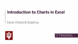 Thumbnail for entry Excel: Charts and Graphics - Introduction to Charts in Excel