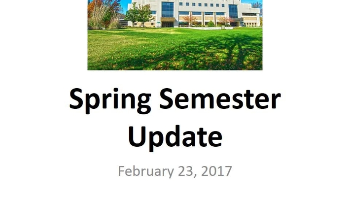 2017 Spring Semester Financial Aid Update