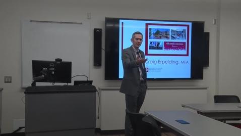 Thumbnail for entry Craig Erpelding Job Talk