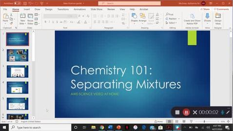 Thumbnail for entry Chemistry 101- Separating Mixtures!
