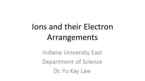Thumbnail for entry Ions and their Electron Arrangements