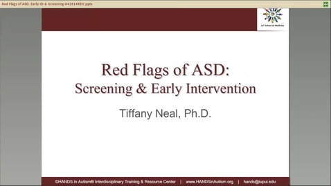 Thumbnail for entry Red Flags of ASD_ Screening & Early Intervention