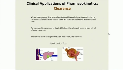 Thumbnail for entry IN FHD 2/9/2017: Pharmacokinetics 2