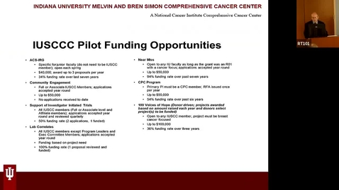 """Thumbnail for entry IUSCCC Grand Rounds, March 6, 2020, Nikhil Munshi, MD """"""""Molecular Medicine to Immunotherapy: Inching Towards a Cure in Myeloma"""""""