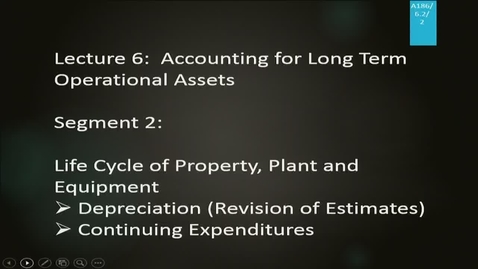 Thumbnail for entry A186 06-2 Accounting for Long Term Operational Assets