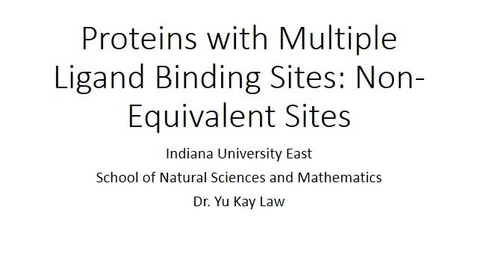 Thumbnail for entry Proteins with Multiple Ligand Binding Sites: Non-Equivalent Sites