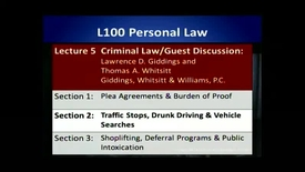 Thumbnail for entry L100 05-2 Traffic Stops, Drunk Driving and Vehicle Searches