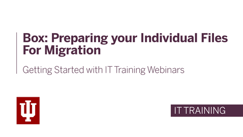 Thumbnail for entry Box: Preparing your individual files for migration