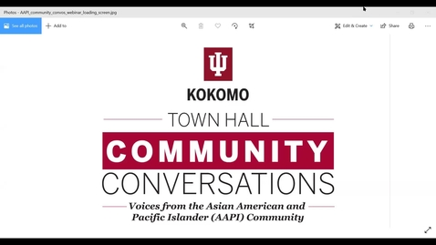 Thumbnail for entry Community Conversations with the Asian American and Pacific Islander (AAPI) Community