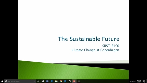 Thumbnail for entry Climate Change at Copenhagen: getting ready