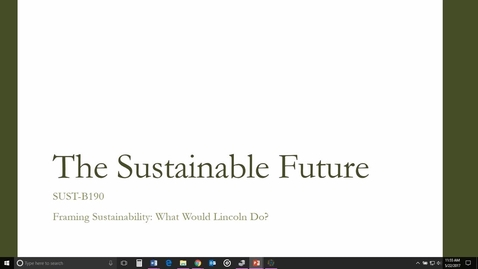 Thumbnail for entry Framing Sustainability: What Would Lincoln Do?