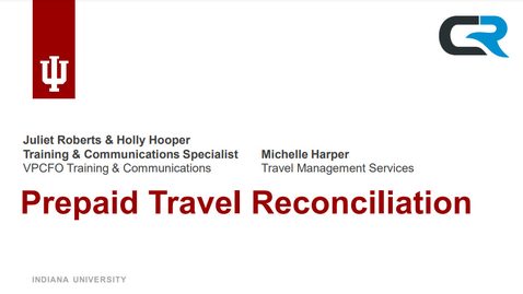 Thumbnail for entry Prepaid Travel Reconciliation