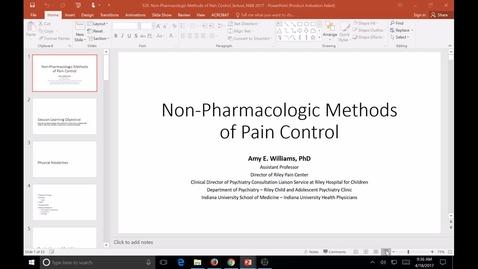 Thumbnail for entry S20, SB, N&B, non-pharm methods of pain control, Dr. Nasr