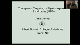 "Thumbnail for entry IUSCC_Grand_Rounds_20170331 ""Therapeutic targeting of Myelodysplastic syndromes"" Amit Verma, MD"