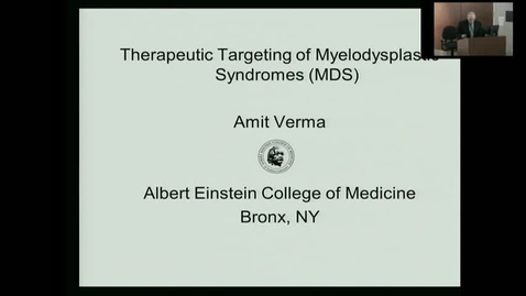 """Thumbnail for entry IUSCC_Grand_Rounds_20170331 """"Therapeutic targeting of Myelodysplastic syndromes"""" Amit Verma, MD"""