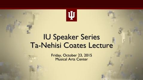 Thumbnail for entry Ta-Nehisi Coates