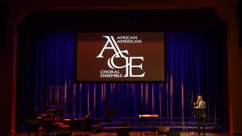 Thumbnail for entry African American Choral Ensemble Spring Concert 2019