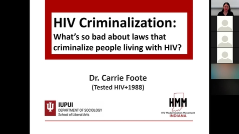 Thumbnail for entry June Insights and Innovations: HIV Criminalization: What's so bad about laws that criminalize people living with HIV?