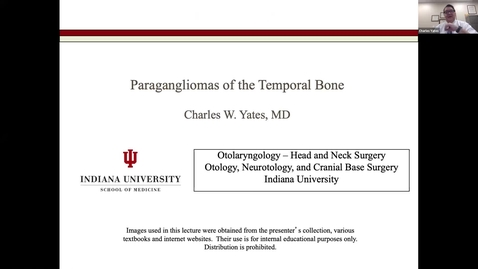 Thumbnail for entry 11.25.2020 Department of Otolaryngology Grand Rounds