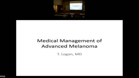 """Thumbnail for entry IUSCC Grand Rounds, December  7, 2018 - Ted Logan, MD, """"Medical Treatment of Advanced Melanoma"""""""