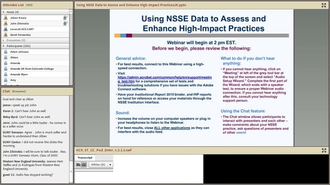 Thumbnail for entry Using NSSE Data to Assess and Enhance High-Impact Practices