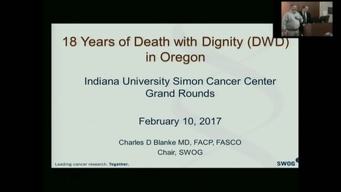 Thumbnail for entry IUSCC_Grand_Rounds, February 10, 2017, Charles Blanke, MD