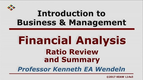 Thumbnail for entry W200 14-3 Ratio Review and Summary