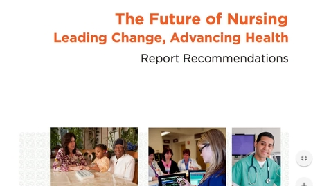 Thumbnail for entry Week 3 - IOM Future of Nursing Report