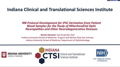 Thumbnail for entry iPSC derivation from patient blood samples for the study of mitochondrial optic neuropathies and other neurodegerative diseases