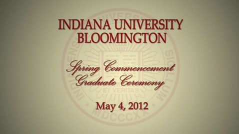 Thumbnail for entry 2012 Commencement for Masters and Doctoral Graduates