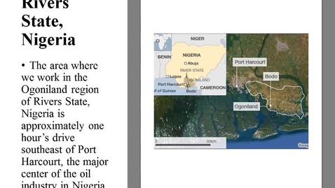 Thumbnail for entry Against the Odds: Making a Difference in Global Health in the Rural Niger Delta