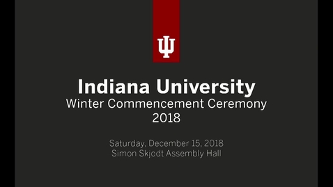 Thumbnail for entry Winter Commencement 2018