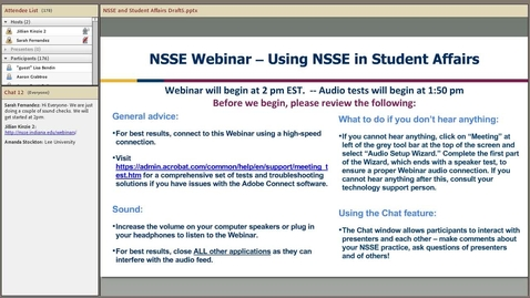 Thumbnail for entry Using NSSE Data in Student Affairs