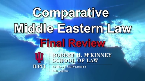Thumbnail for entry Review: D700 Comparative Middle Eastern Law 'Arafa