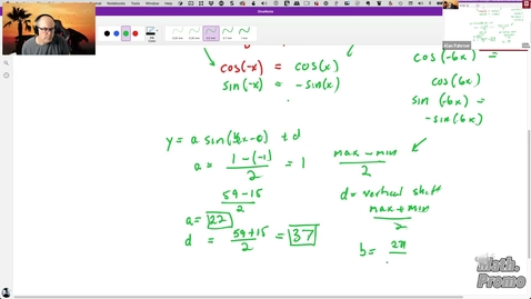 Thumbnail for entry SU21 M126 Week 3 Session 2 - Student Questions (e.g. Converting a Table into a Sine Function)