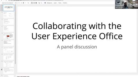Thumbnail for entry Statewide IT 2018 - Collaborating with the User Experience Office—A panel discussion