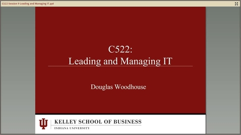 Thumbnail for entry dwoodhou MP4s_C522 Woodhouse II_C522 Summer 2013 Module 9 Leading and Managing