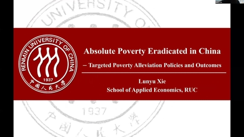 Thumbnail for entry Poverty Eradication in China - SDG Global Conversations January