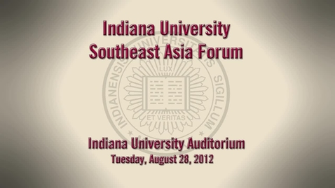 Thumbnail for entry Forum: IU delegation's trip to Southeast Asia