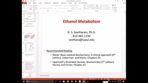 Thumbnail for entry EVV, MCT, 11/14/2016: Ethanol metabolism - Ram